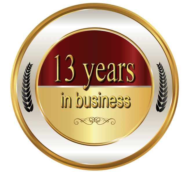 13 Years in Business